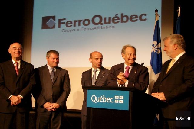 De gauche à droite :le président du Groupe... (Archives Le Soleil)