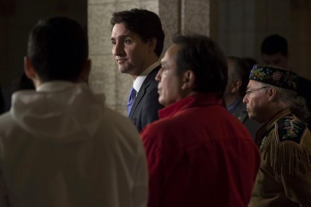 JustinTrudeau a rencontré, mercredi, les chefs de cinq... (La Presse Canadienne)