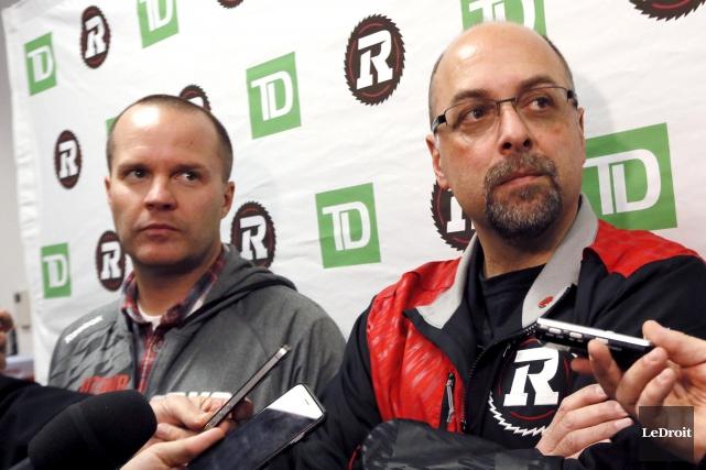 L'entraîneur-chef du Rouge et Noir Rick Campbell et... (Etienne Ranger, Archives LeDroit)