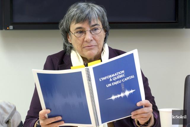 DominiquePayette a publié son rapport sur les médias... (Photothèque Le Soleil, Patrice Laroche)
