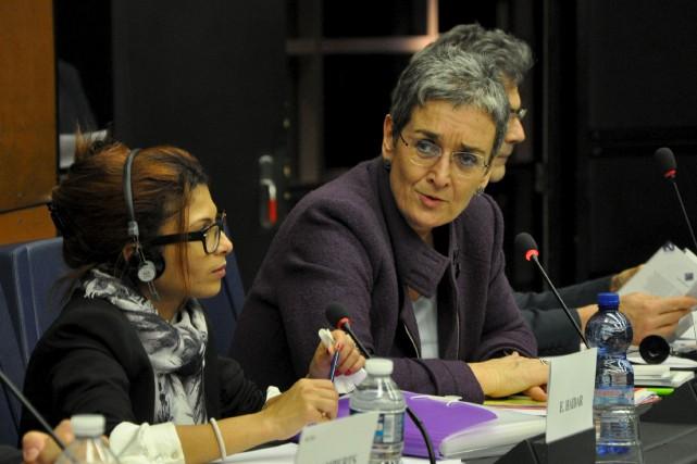 La présence d'Ensaf Haidar à Strasbourg ne s'est... (PHOTO COURTOISIE BUREAU D'ULRIKE lUNACEK)