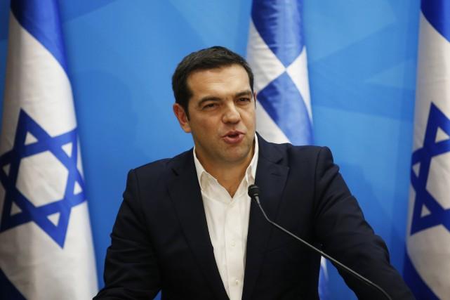 Le premier ministre grec, Alexis Tsipras... (PHOTO ARCHIVES AFP)
