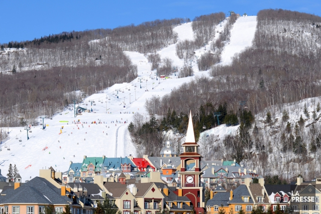 La construction de la piste destinée aux skieurs... (Photo fournie par la station Mont-Tremblant)