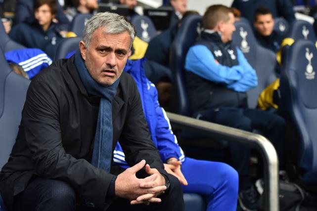 L'entraîneur José Mourinhoétait sur la sellette après le... (Photo Ben Stansall, archives AFP)