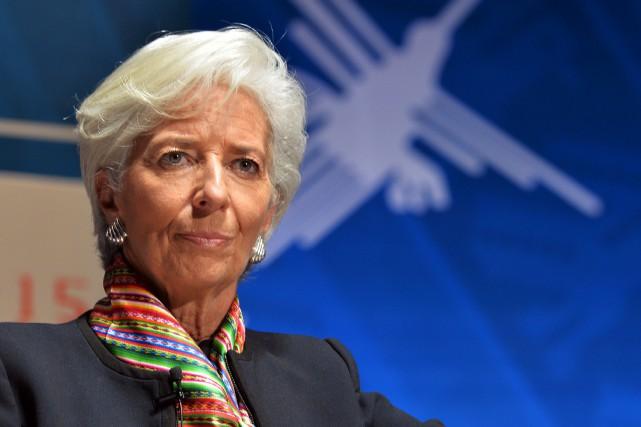 La patronne du FMI, Christine Lagarde... (PHOTO ARCHIVES AFP)