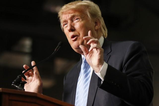 Donald Trump est en tête des sondages d'intentions... (PHOTO PAUL VERNON, ARCHIVES AP)