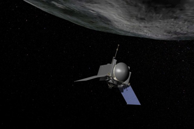 L'engin spatial de la mission OSIRIS-REx.... (PHOTO LA PRESSE CANADIENNE)