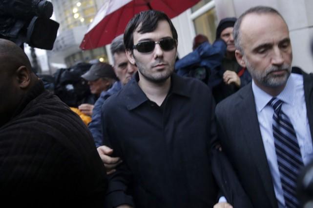Arrêté jeudi, Martin Shkreli avait fait scandale il... (AP, Seth Wenig)