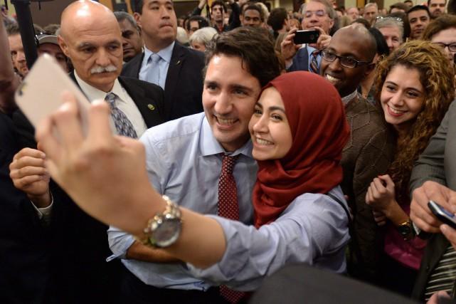 Pour Justin Trudeau, les egoportraits ne sont que... (La Presse Canadienne)