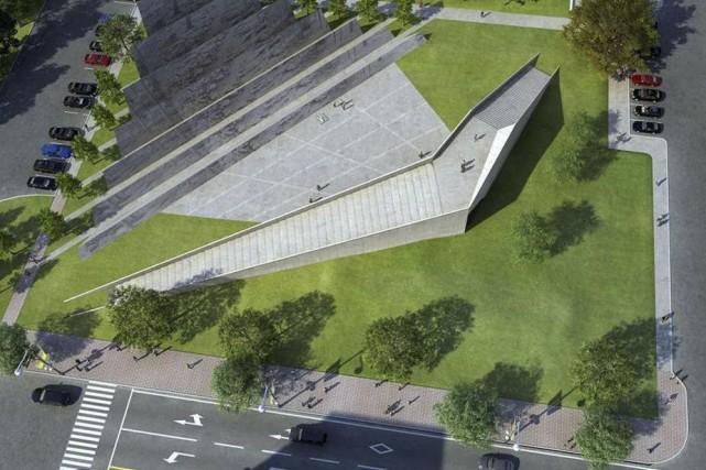 Le Monument aux victimes du communisme devait être... (Courtoisie)