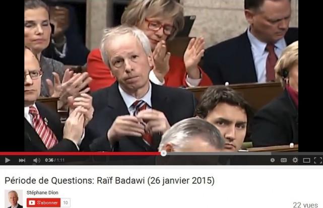 Alors député dans l'opposition, Stéphane Dion a mise... (Capture d'écran Youtube)