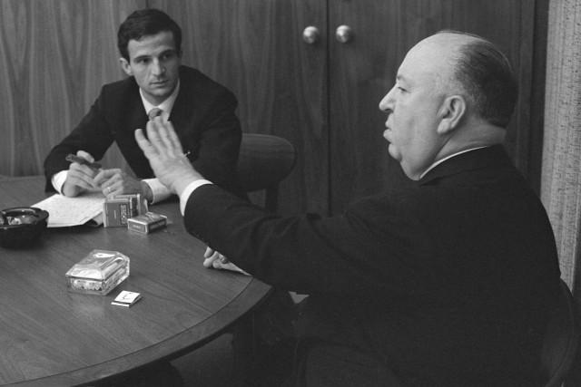 En1962, François Truffaut etAlfred Hitchcockpassent huit jours à... (Philippe Halsman fournie par Cohen Media Group)