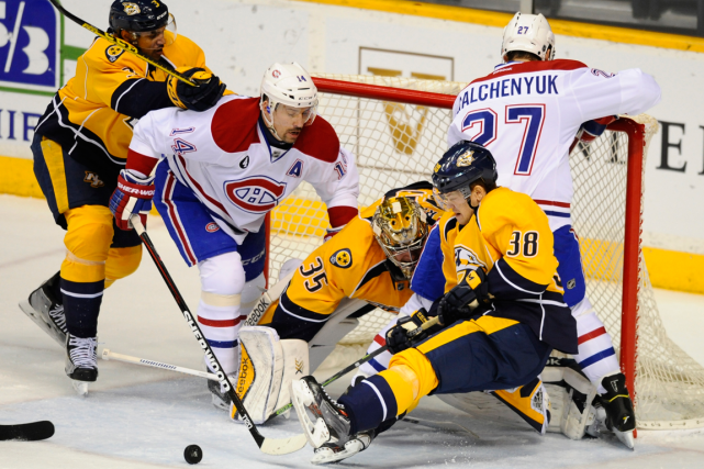 Suivez l'affrontement entre le Canadien et les Predators de Nashville en direct... (Photo Christopher Hanewinckel, archives USA Today)