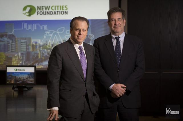 Ledirecteur généralNew Cities Foundation (NCF)Maxwell Anderson et leprésident... (PHOTO IVANOH DEMERS, LA PRESSE)
