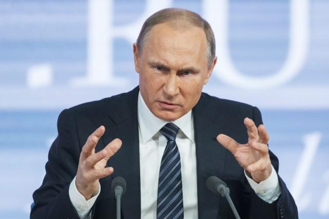 Le président russe, Vladimir Poutine... (Photo Alexander Zemlianichenko, AP)