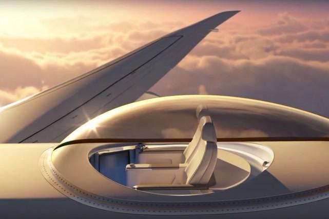 Deux sièges d'avion avec vue... imprenable, tels qu'ils... (PHOTO TIRÉE D'UNE VIDÉO PROMOTIONNELLE)