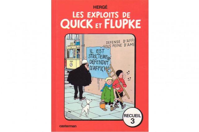 Une encre de Chine de Quick et Flupke réalisée par le maître belge de la bande...
