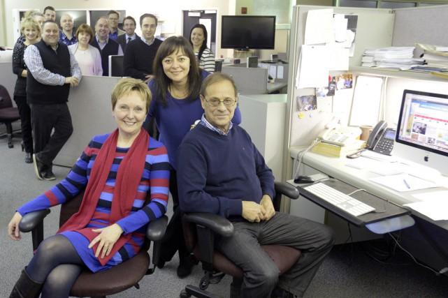 À l'avant-plan, Ginette Gagnon, Linda Corbo et Jean-Marc... (Sylvain Mayer)