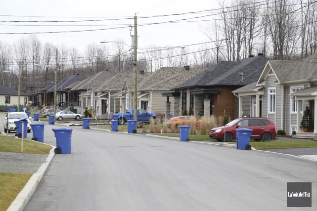 Les valeurs des résidences situées dans les quartiers... (Janick Marois, La Voix de l'Est)