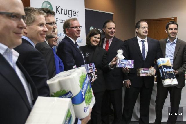 Produits Kruger espère réduire de 2700 tonnes ses... (Patrick Woodbury, LeDroit)