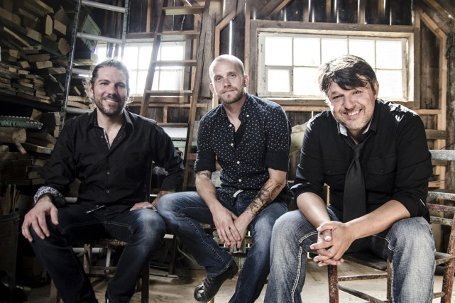 Nicolas Pellerin, au centre, et ses Grands Hurleurs,... (photo Marie-Claude Meilleur)