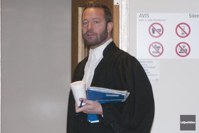 L'avocat Dominic Bouchard devra plaider le dossier de... (Photo Le Quotidien, Michel Tremblay)