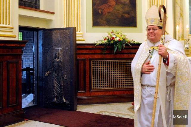 L'ouverture de la seule porte sainte en Amérique,... (Photothèque Le Soleil, Erick Labbé)