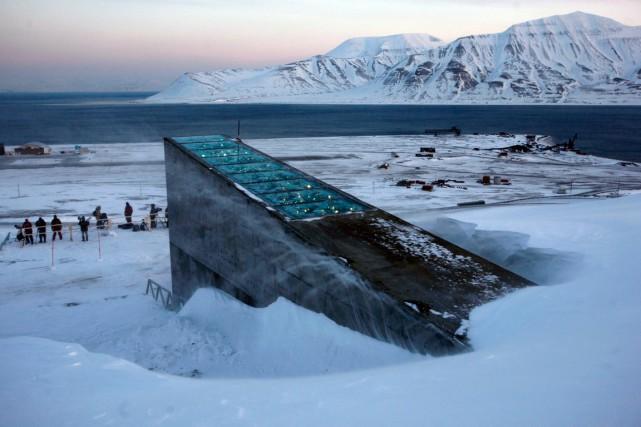 LaRéserve mondiale de semences du Svalbardsur l'îlenorvégienneduSpitzberg.... (Archives AP, John McConnico)