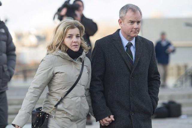 Dennis Oland s'est présenté à la cour en... (PHOTO ANDREW VAUGHAN, PC)
