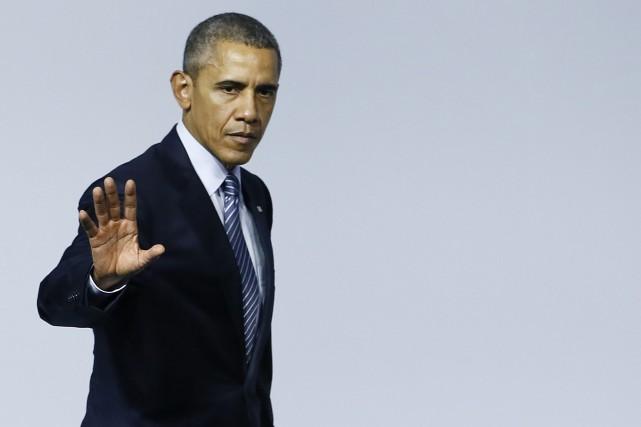 Le président a utilisé, pour une rare fois,... (PHOTO IAN LANGSDON, ASSOCIATED PRESS)