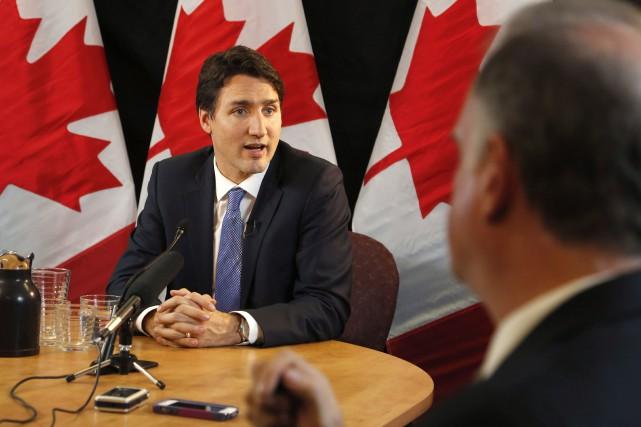 Le premier ministre du Canada, Justin Trudeau... (Photo Patrick Doyle, La Presse Canadienne)