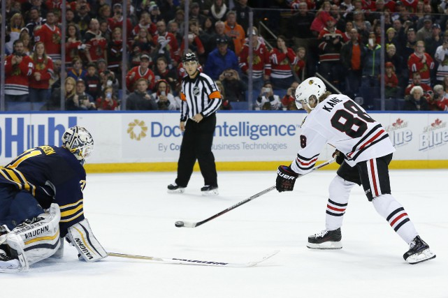 Patrick Kane a marqué le but qui a... (Photo Kevin Hoffman, USA Today)