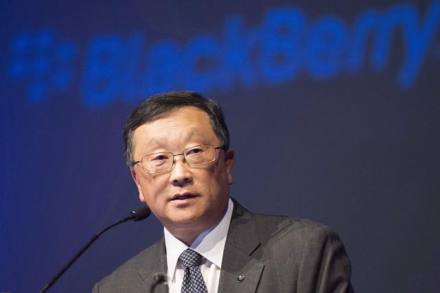 Le PDG de BlackBerry,John Chen... (PHOTO ARCHIVES LA PRESSE CANADIENNE)