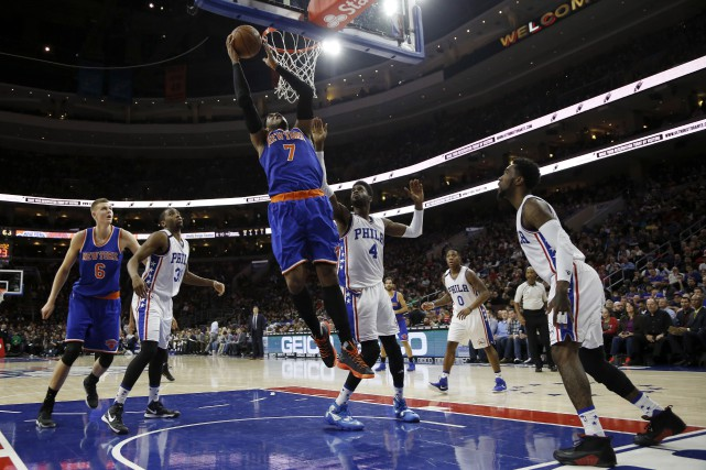 Carmelo Anthony et les Knicks de New York... (AP, Matt Slocum)