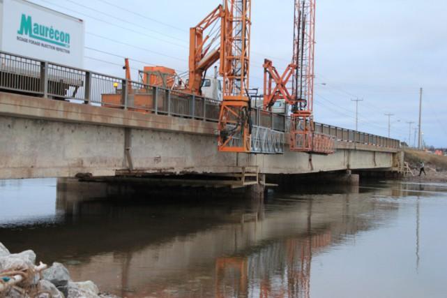 Le pont de Hope Town est en réfection... (Collaboration spéciale, Gilles Gagné)