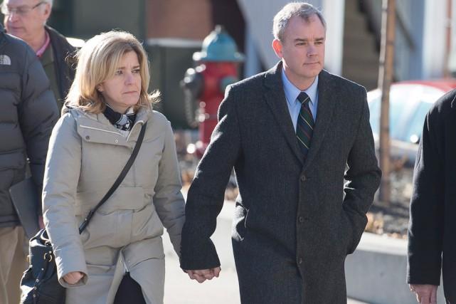 Dennis Oland est arrivé au palais de justice... (La Presse Canadienne, Andrew Vaughan)