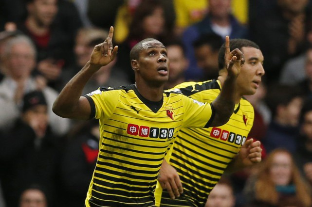Odion Ighalo a inscrit ses 11e et 12e buts de... (PHOTO JOHN SIBLEY, REUTERS)
