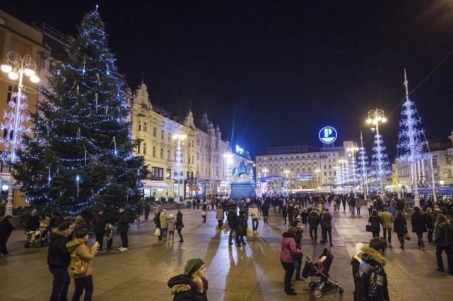 Zagreb se targue d'avoir été récemment désignée «meilleur... (PHOTO AFP)