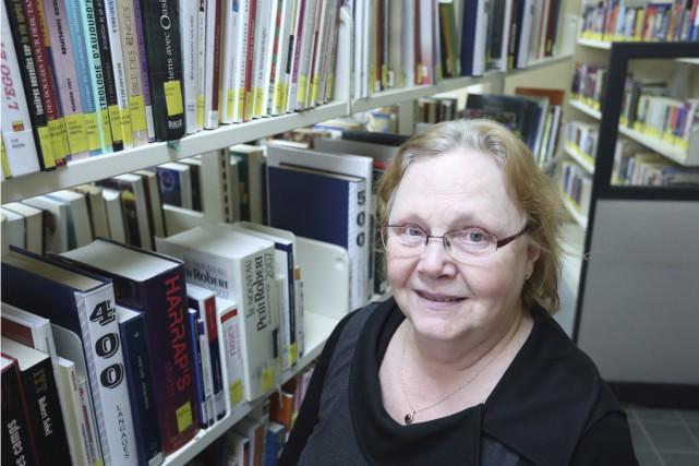 Louise Perron, responsable de la bibliothèque de Bonsecours,... (photo Catherine Trudeau)