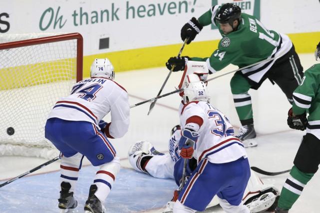 Samedi soir, les Stars ont corrigé le Canadien... (La Presse Canadienne)