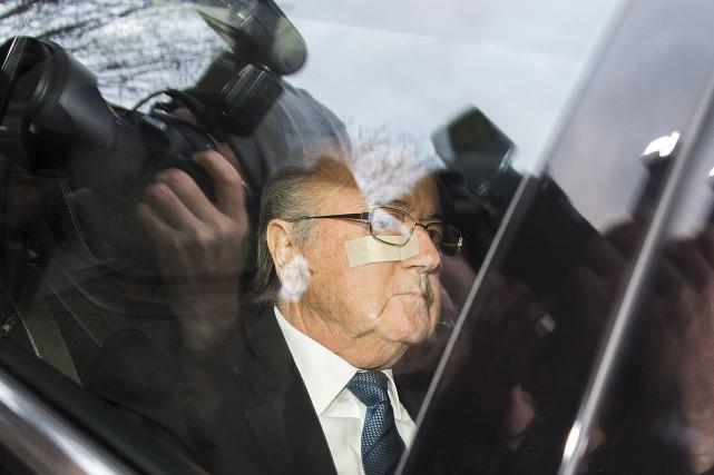 Le président suspendu de la FIFA, Sepp Blatter,... (AP, Walter Bieri)