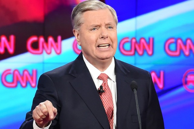 Le sénateur Lindsey Graham.... (PHOTO ROBYN BECK, AFP)