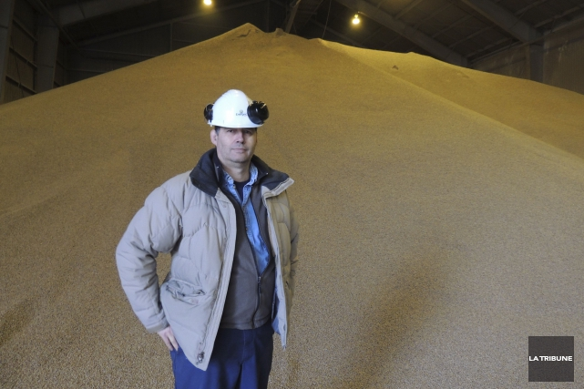 Max Béraud, directeur général de Granules Combustibles Energex... (La Tribune, Ronald Martel)
