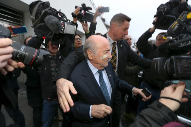 Le président de la FIFA, Joseph Blatter, a... (Photo Michele Limina, AFP)