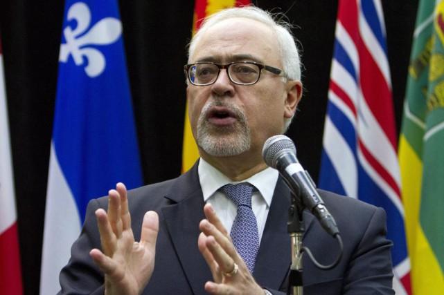 Le ministre québécois des Finances, Carlos Leitao, se... (PC, Fred Chartrand)
