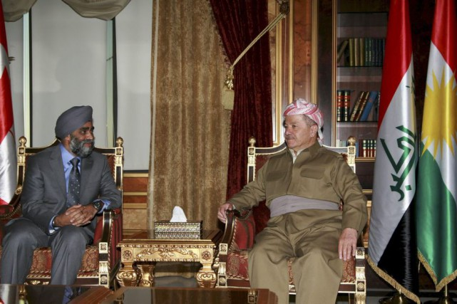 Le ministre Harjit Sajjan a rencontré le président... (PHOTO REUTERS)