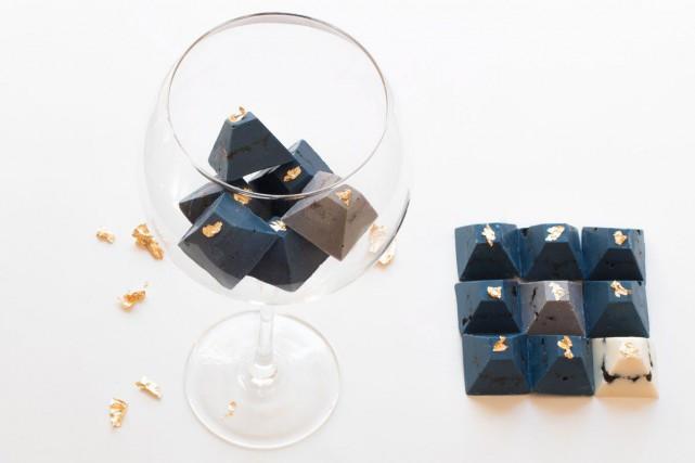 Boîte de 12 chocolats Blue Rebel, 39,99$, Sackarose,... (Photo fournie par Sackarose)