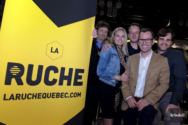 Charles Mony, Lise-Andrée Roy, Olivier Dufour, cofondateur, Simon... (Le Soleil, Erick Labbé)