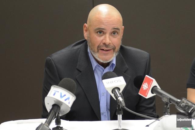 L'entraîneur-chef des Voyageurs, Martin Pouliot.... (Archives Le Quotidien)