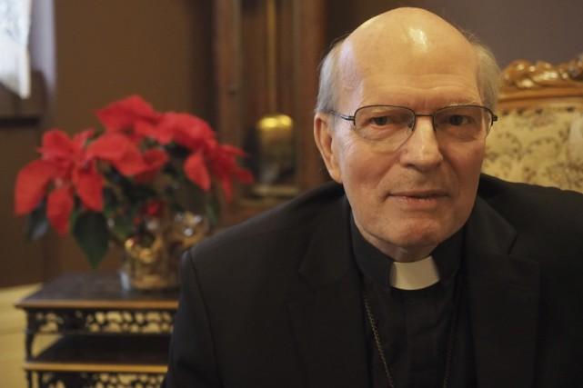 François Lapierre, p.m.é., évêque de Saint-Hyacinthe... (photo Alain Dion)